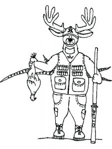 free printable hunting coloring pages pdf