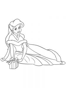 free printable princess ariel coloring pages
