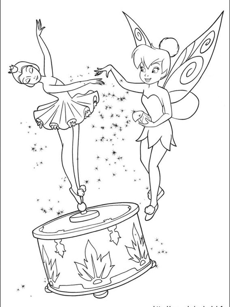 free printable tinkerbell friends coloring pages