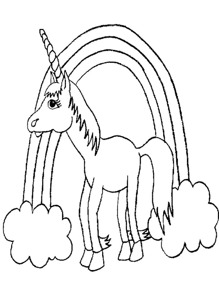 free printable unicorn rainbow coloring pages