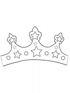 free queen crown coloring pages