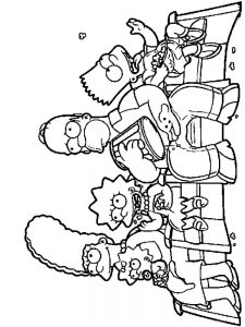 free simpsons coloring pages print free