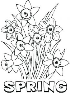 free spring flowers coloring pages download