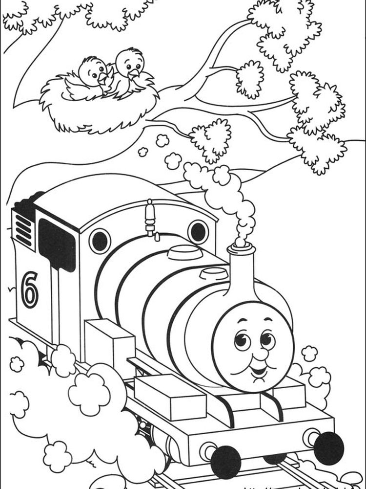 free thomas the train coloring pages for kids
