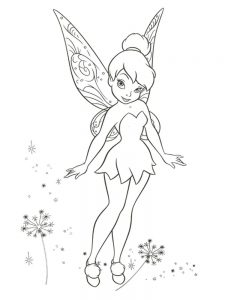 free tinkerbell and friends coloring pages