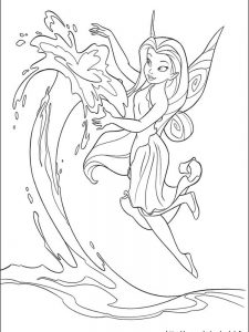 free tinkerbell and periwinkle coloring pages