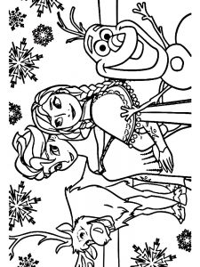frozen 2 coloring pages free