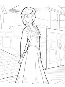 frozen cast coloring page