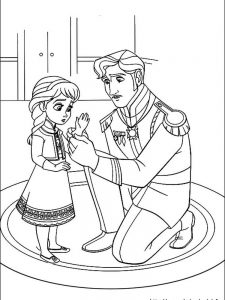 frozen characters coloring pages free