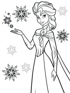frozen coloring and activity pages