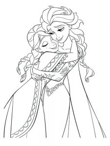 frozen coloring book pages to print