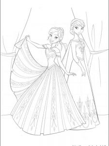 frozen coloring page game