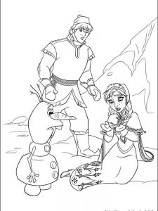 frozen coloring page online