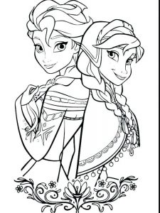 frozen coloring pages app