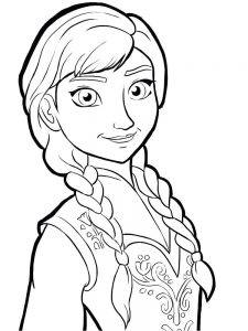 frozen coloring pages baby elsa