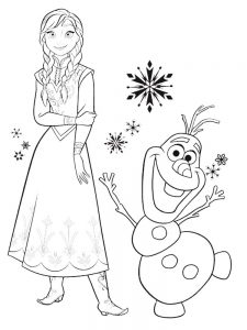frozen coloring pages book