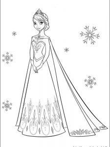 frozen coloring pages christmas