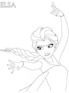 frozen coloring pages disney elsa