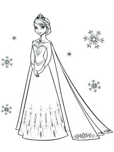 frozen coloring pages elsa