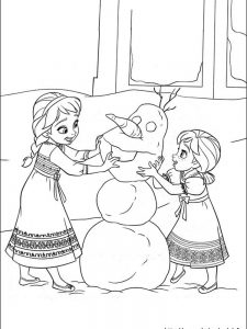 frozen coloring pages free printables