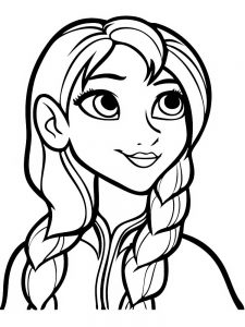 frozen coloring pages little anna