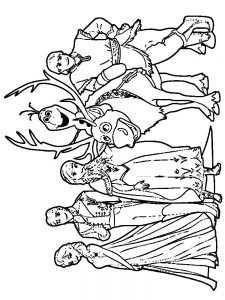 frozen coloring pages to print free