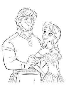 frozen coloring pages young anna
