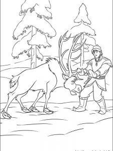 frozen full page coloring pages