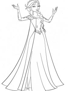 frozen ice castle coloring page