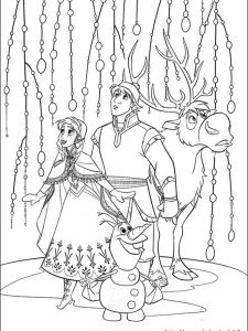 frozen ii coloring page