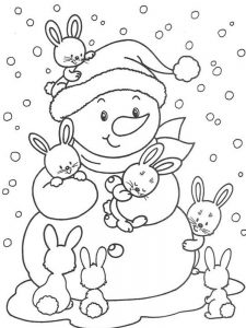 fun winter coloring pages