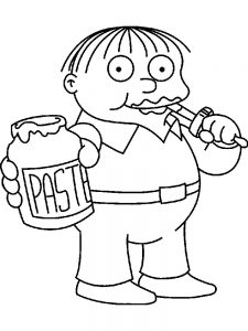 funny simpsons coloring pages online