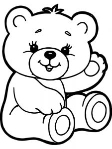 girl bear coloring pages