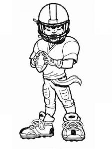 girl football player coloring page
