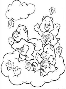 good luck care bear coloring pages