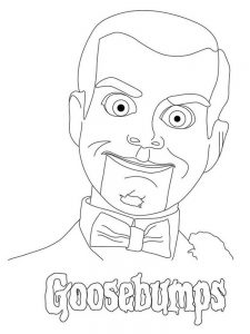 goosebumps character coloring pages