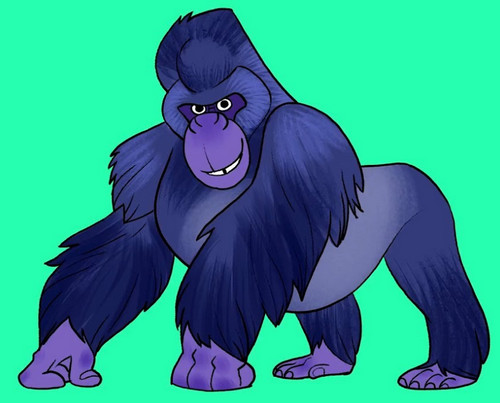 gorilla coloring pages free