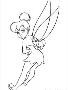 goth tinkerbell coloring pages