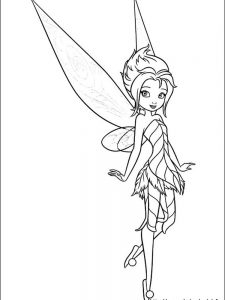 gothic tinkerbell coloring pages to print