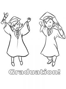 graduation ceremony coloring pages