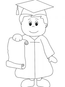 graduation coloring pages for preschoolers