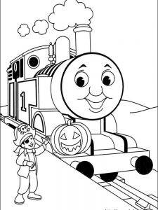 happy birthday thomas the train coloring pages