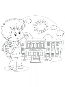 happy first day of school coloring page