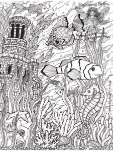 hard coloring pages print