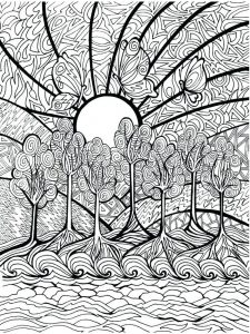hard image coloring pages