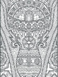 hard image coloring pages free