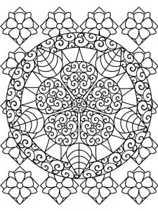 hard image coloring pages picture