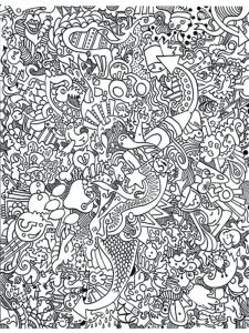 hard image coloring pages to printable