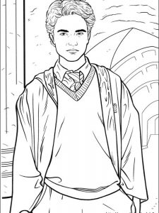 harry potter and friends coloring pages