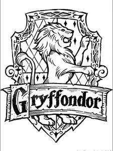 harry potter broom coloring page